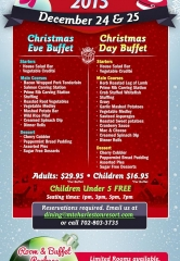 The Resort at Mount Charleston offers a holiday getaway with their Annual Christmas Eve and Christmas Day buffets