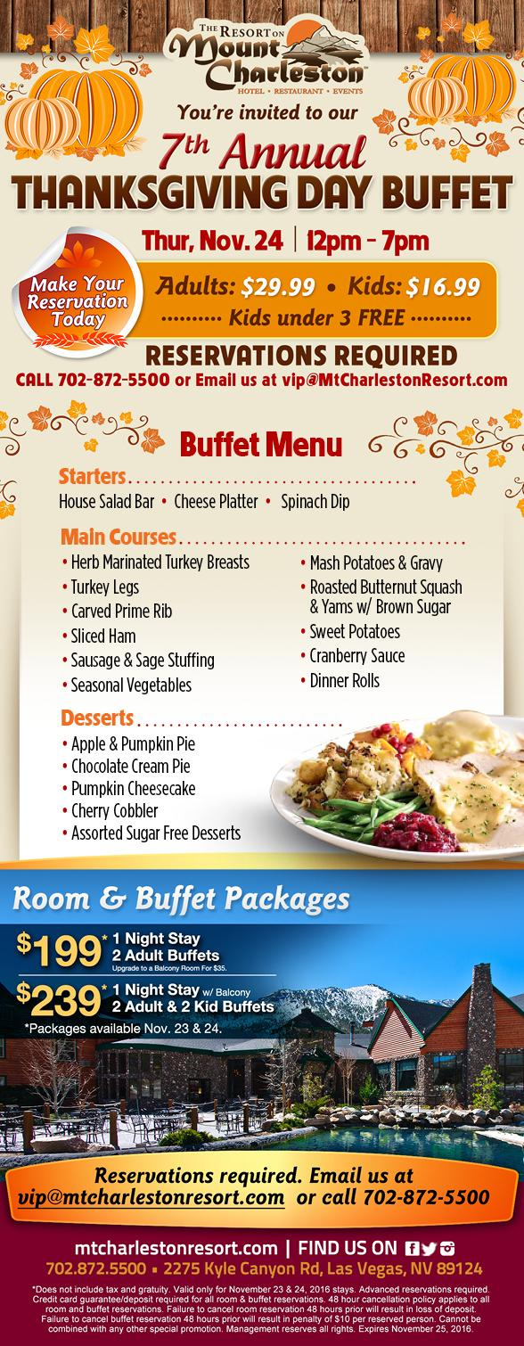 The Resort on Mt Charleston hosts 7th annual Thanksgiving buffet