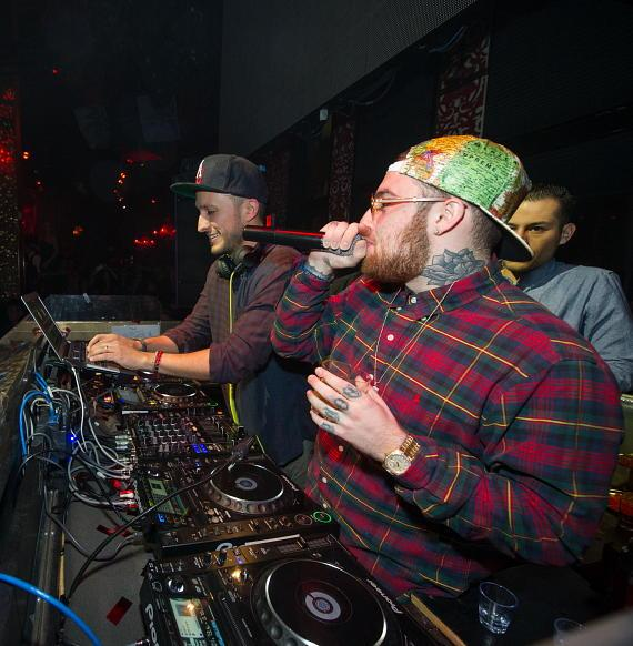 Mac Miller in DJ Booth at TAO
