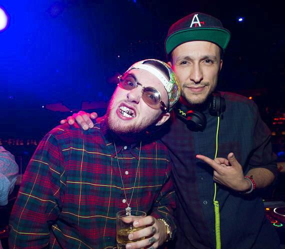Mac Miller and DJ Vice at TAO