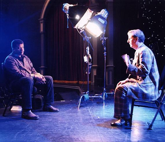 """Mac King is interviewed by NOVA scienceNOW host, Neil deGrasse Tyson, at his showroom at Harrah's Las Vegas. NOVA scienceNOW is a show featuring Tyson's """"cosmic perspective"""" and four fast-paced, timely science and technology stories, including a profile piece on an intriguing personality in the field."""