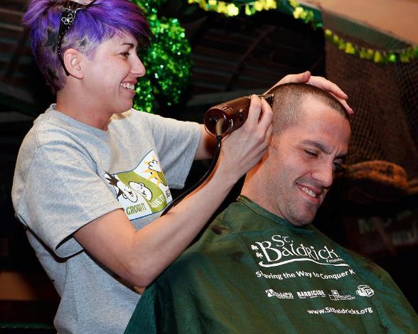Wranglers Go Bald for Childhood Cancer Awareness