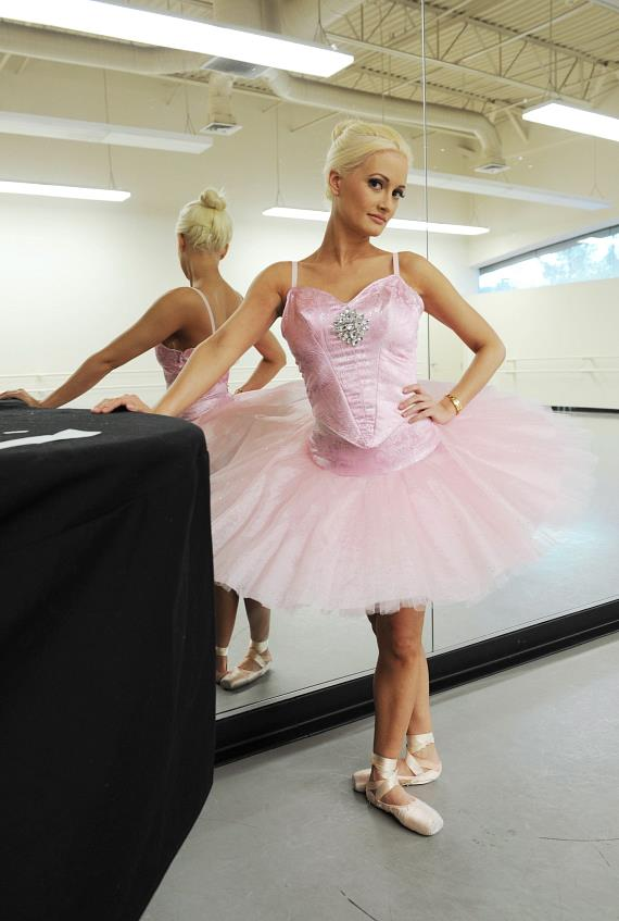 Holly Madison poses in ballerina costume