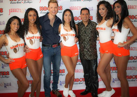 Jarrett & Raja with The Hooters Girls