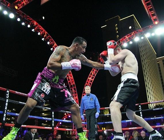 Boxing Action Fills The Air Of Downtown Vegas! Presented