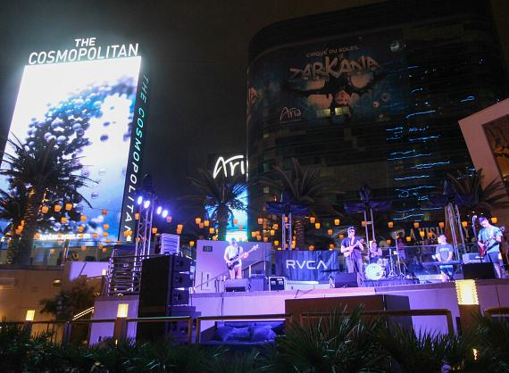 Makua Rothman plays the Boulevard Pool at The Cosmopolitan of Las Vegas