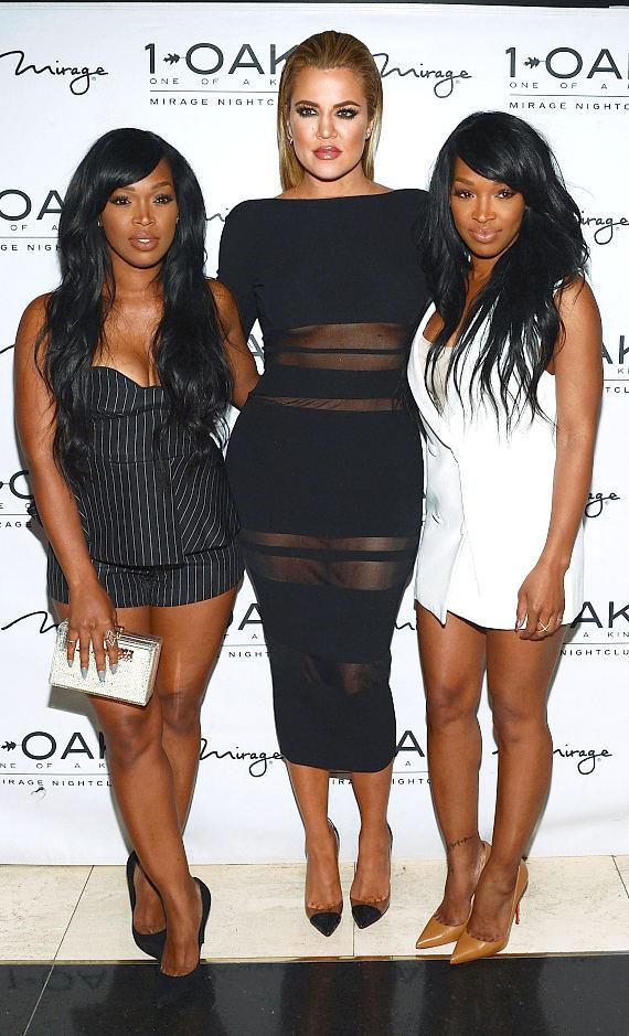 Malika, Khloe and Khadijah arrive at 1 OAK Nightclub