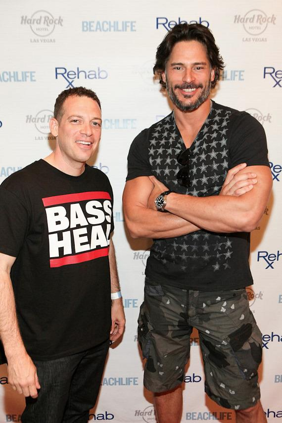 DJ Z-Trip and Joe Manganiello on the red carpet at Rehab
