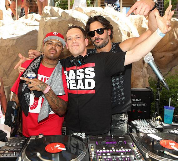 DJ Paul of Three 6 Mafiz, DJ Z-Trip and Joe Manganiello