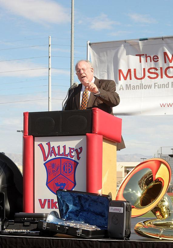 Las Vegas Mayor Oscar Goodman at Valley High School in Clark County, Nevada