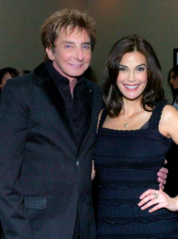 Teri Hatcher with Barry Manilow at Paris Las Vegas
