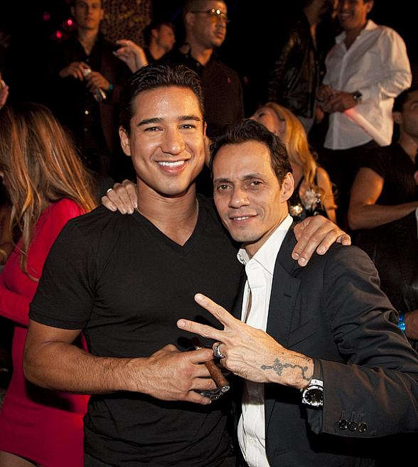 Mario Lopez and Marc Anthony