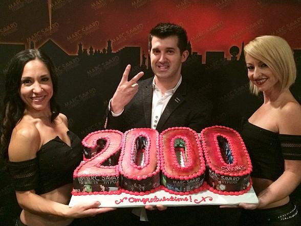 Comedy Hypnotist Marc Savard Celebrates 2,000th Las Vegas Show at the V Theater