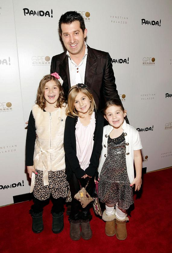 Marc Savard and daughters at world premiere of PANDA!