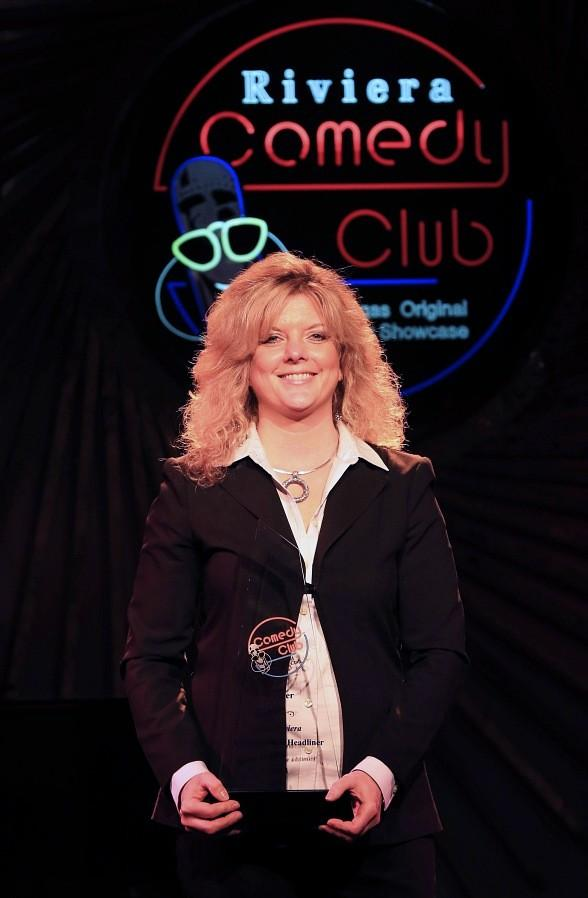 Maria Walsh, winner of Riviera Casino & Hotel Next Comic Headliner Search in Las Vegas