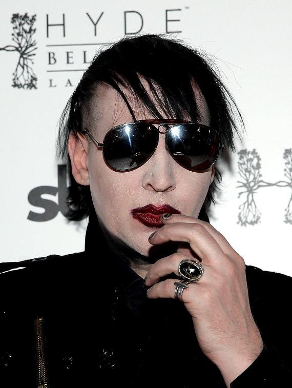 Marilyn Manson arrives at Hyde Bellagio, Las Vegas