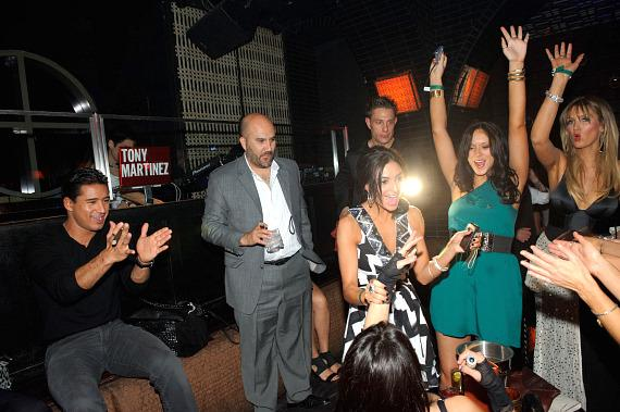 Mario Lopez, Courtney Mazza and friends at LAVO