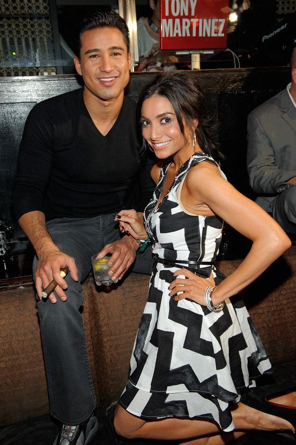 Mario Lopez and Courtney Mazza inside LAVO