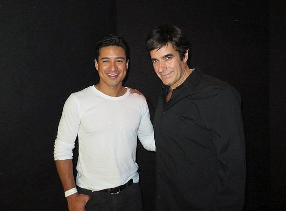 Mario Lopez and Colin Farrell Attend David Copperfield's Show at MGM Grand