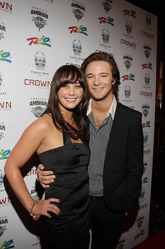 Michael Welch and Marissa Lefton (Michael's girlfriend)