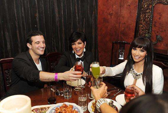 Mark Ballas, Kris Jenner and Kim Kardashian at TAO