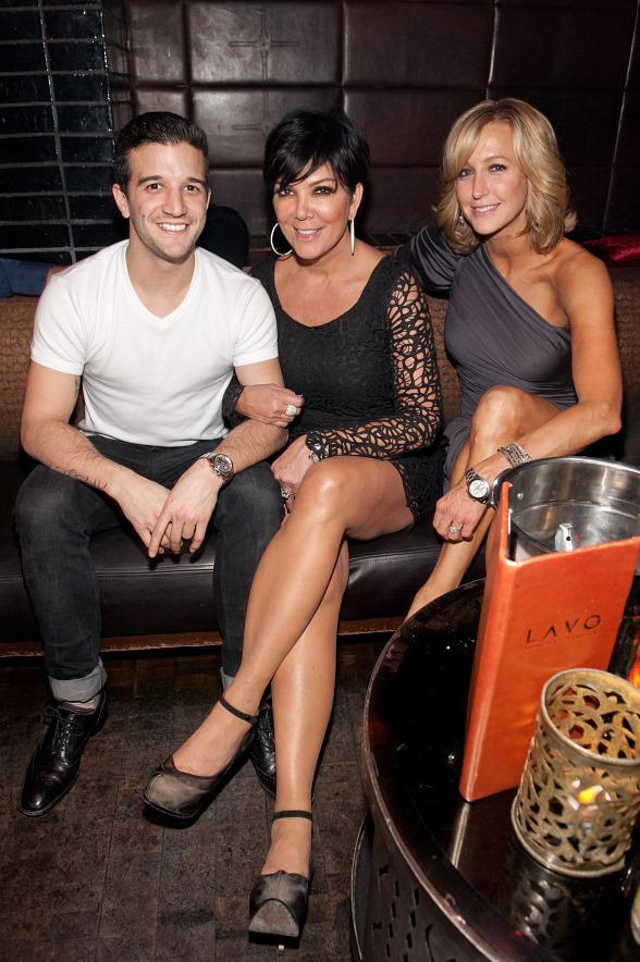 Mark Ballas Kris Jenner and Lara Spencer at LAVO