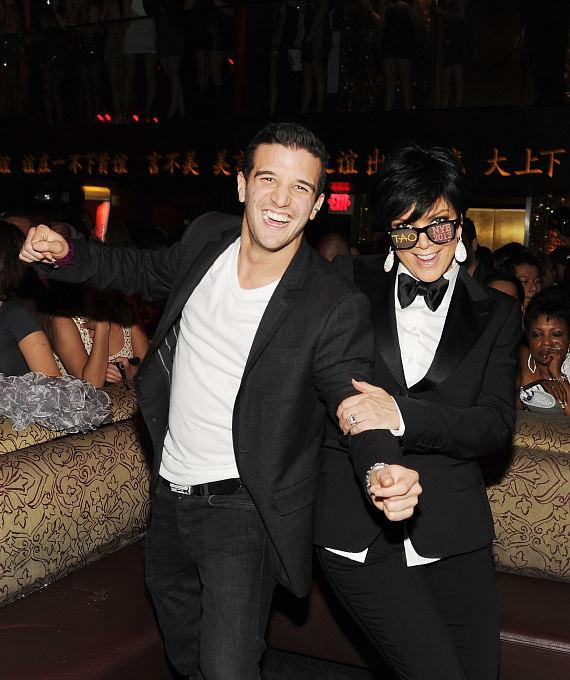 Mark Ballas and Kris Jenner dance at TAO