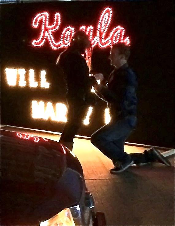 Marriage Proposal at Glittering Lights