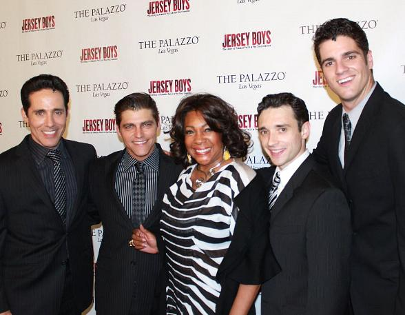Mary Wilson Visits Cast of Jersey Boys at The Palazzo in Las Vegas