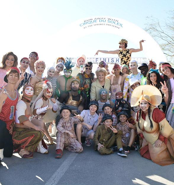 """Run Away with Cirque du Soleil"" at 16th Annual 5K Run and 1-Mile Fun Walk at the Springs Preserve, March 11, 2017"