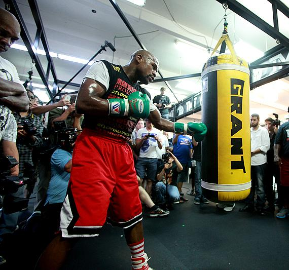 Floyd Mayweather during Media Day in Las Vegas