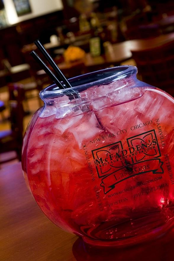 McFadden's famous Fishbowl drinks