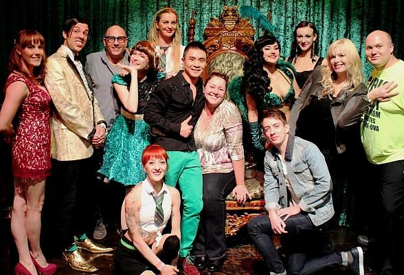 Actors Willie Garson, Camryn Manheim, Kevin McHale and Melissa Peterman attend ABSINTHE at Caesars Palace