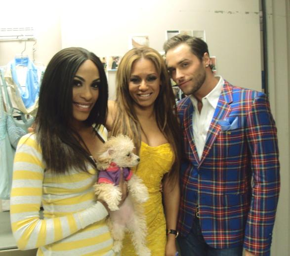 Mel B with Cheaza and Josh Strickland at PEEPSHOW