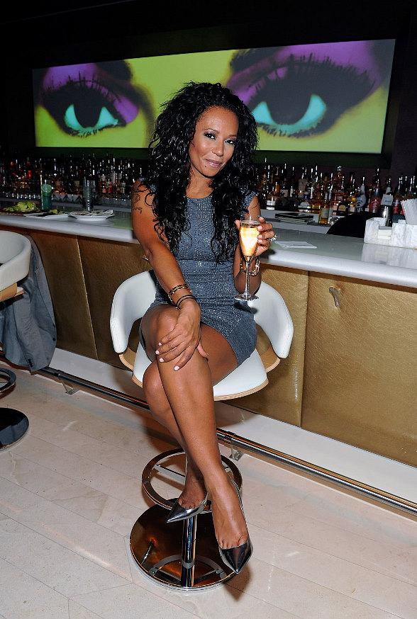 Mel B celebrates birthday at Andrea's