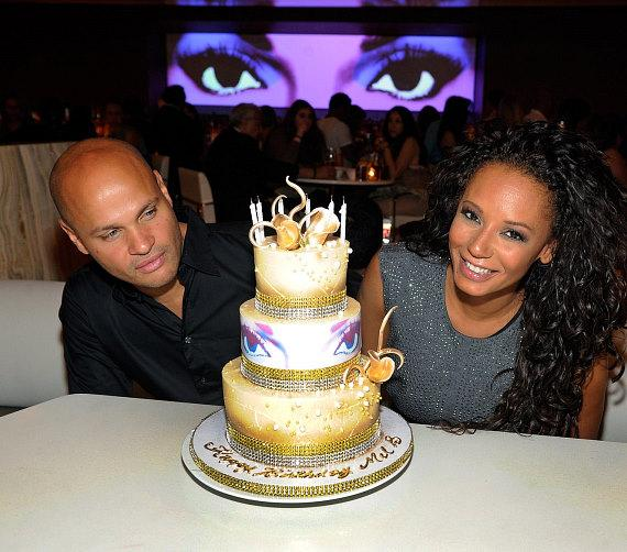 Stephen Belafonte and singer Mel B celebrate her birthday at Andrea's at Encore Las Vegas