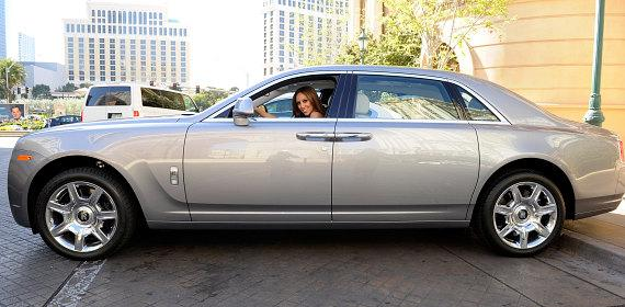 Melissa Gorga driving Rolls-Royce Ghost from Towbin Motorcars