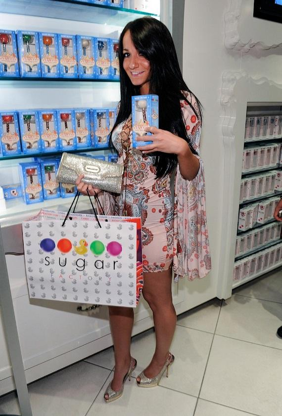 Melissa Sorrentino shops at Sugar Factory inside Paris Las Vegas