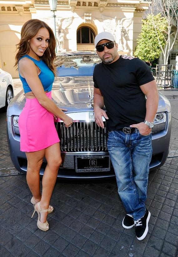 Melissa and Joe Gorga with Rolls-Royce Ghost from Towbin Motorcars