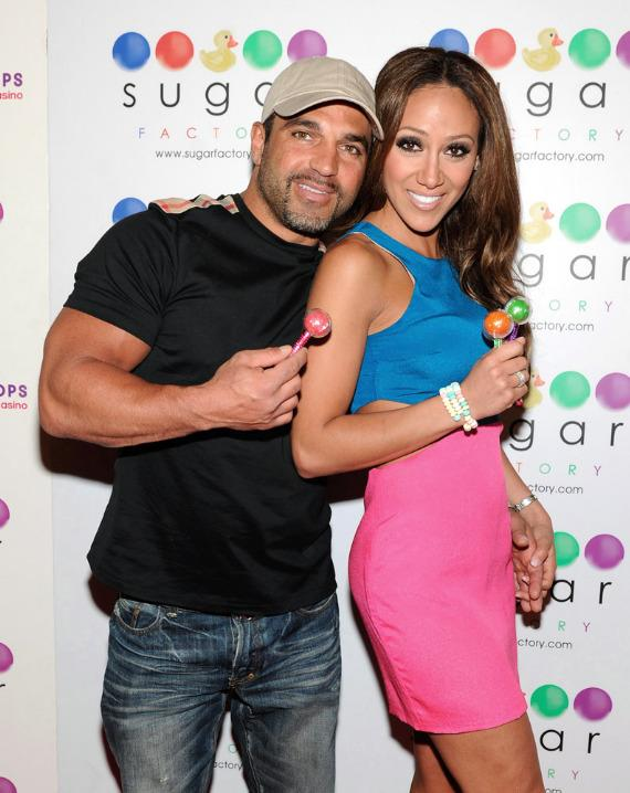 Joe and Melissa Gorga on the red carpet at Sugar Factory