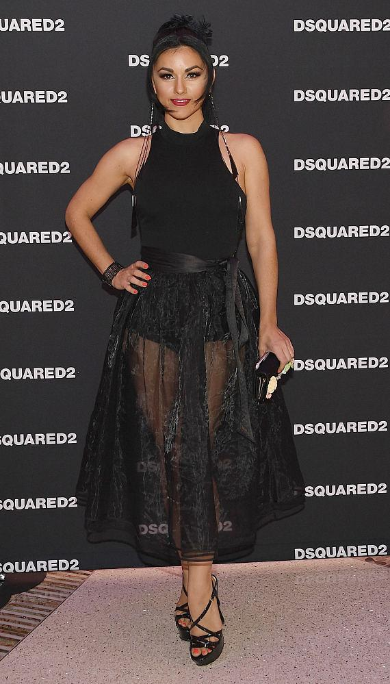 Melody Sweets at DSQUARED2 Grand Opening