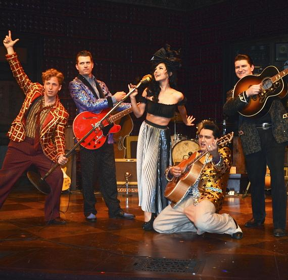 Melody Sweets with the Cast of MILLION DOLLAR QUARTET
