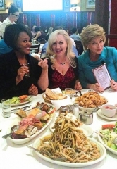 "The Ladies of ""Menopause The Musical"" dine at Carmine's in the Forum Shops at Caesars"