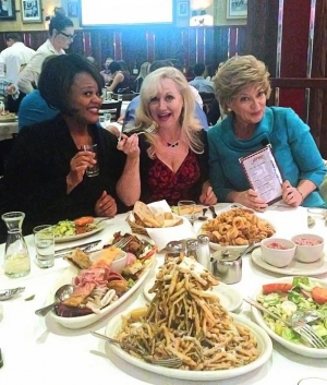 """The Ladies of """"Menopause The Musical"""" dine at Carmine's in the Forum Shops at Caesars"""