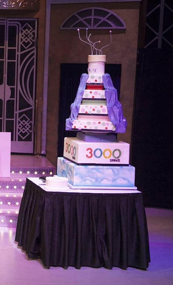 Menopause the Musical 3,000th Show Cake
