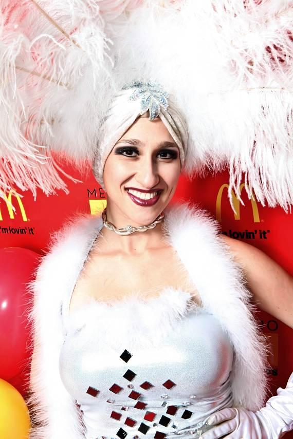 Las Vegas Showgirl at Metro McDonald's