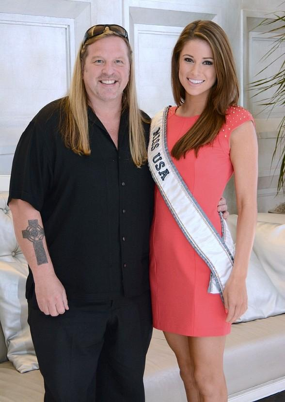 Michael Boychuck and Miss USA Nia Sanchez