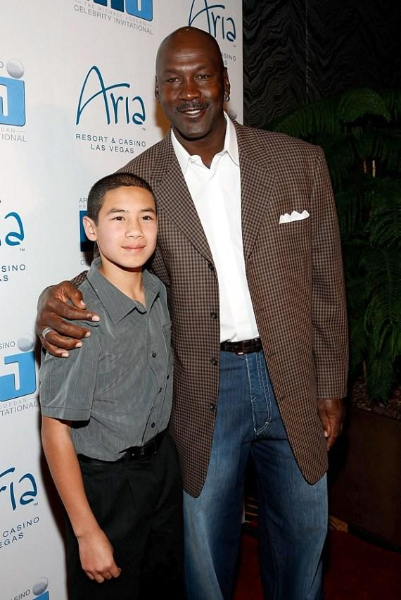 Michael Jordan & Make-A-Wish Wish Kid Joseph Domingues