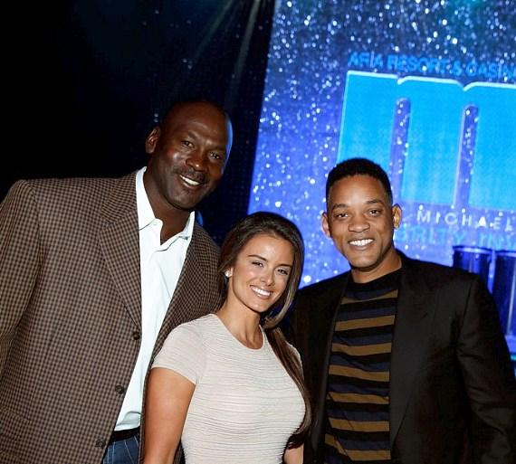 Michael Jordan, Yvette Prieto and Will Smith