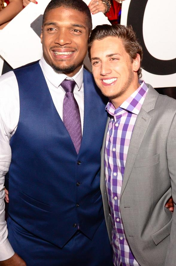NFL's Michael Sam and Boyfriend Vito Cammisano Party at TAO Nightclub in Las Vegas